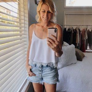 Zara Women's White Spaghetti Strap Shirt